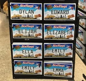 Six Flags Magic Mountain Name Magnet Dylan Edward Elijah Elizabeth Ella Emiy Emm