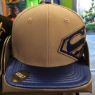 Six Flags Magic Mountain Superman Gray/Blue Adjustable Snapback Hat Cap New