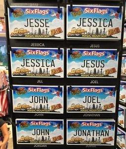 Six Flags Magic Mountain Name Magnet Jesse Jessica Jesus John Jill Joel Jonathan