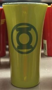 Six Flags Magic Mountain DC Green Lantern Pastel Shot Glass New