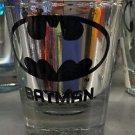 Six Flags Magic Mountain DC Batman Logo Electroplated Shot Glass New