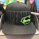 Six Flags Magic Mountain Superman Black/Neon Adjustable Snapback Hat Cap New