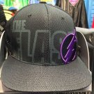Six Flags Magic Mountain The Flash Black Purple Adjustable Snapback Hat Cap New