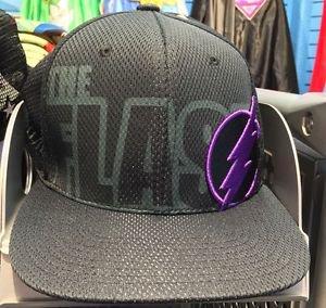 Six Flags Magic Mountain The Flash Black Purple Adjustable Snapback Hat Cap New