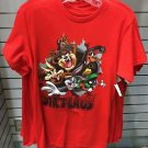 Six Flags Magic Mountain Looney Tunes Burst Character Red Shirt New