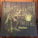 Disney Parks Haunted Mansion Maddest Hatter Of Them All Hatbox Ghost Wood Sign