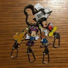 Disney Parks Fab 4 Mickey Minnie Goofy and Pluto Keychain New With Tags