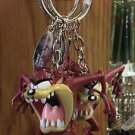 Six Flags Magic Mountain Looney Tunes Tasmanian Devil Figure Keychain New