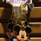 Disney Parks Mickey Mouse Charm Keyring Metal Keychain New