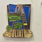 Six Flags Magic Mountain Goliath Motion Metal Magnet New