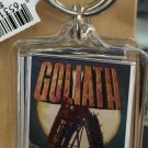 Six Flags Magic Mountain Goliath Clear Acrylic Keyring Keychain New