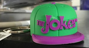 Six Flags Magic Mountain DC The Joker Green Hat Cap Rubber* Keychain New