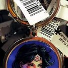 Six Flags Magic Mountain DC Justice League Wonder Woman Round Keychain New