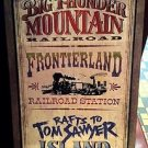 "Disney Parks Frontierland Attractions Wood Wall Plaque Sign 30""x21"" Brand New in Box"