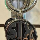 Six Flags Magic Mountain Skull Face Metal Keyring Keychain New