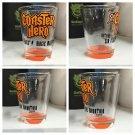 Six Flags Magic Mountain Coaster Hero Clear - Orange Shot Glass New