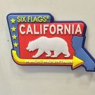 Six Flags Magic Mountain California Rubber Magnet New