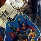 Six Flags Magic Mountain DC Justice League Character Coaster Acrylic Keychain