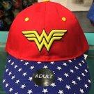 Six Flags Magic Mountain DC Wonder Woman Adjustable Strap Hat Cap New