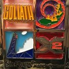 Six Flags Magic Mountain Goliath Superman X2 Viper Stained Glass Magnet New