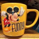 Mickey Mouse Yellow Coffee Tea Mug Cup Disney Parks New