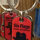 Six Flags Magic Mountain Looney Tunes Gossamer Metal Keychain New