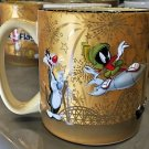 Six Flags Magic Mountain Looney Tunes Multi Character Gold Embossed Ceramic Mug