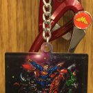 Six Flags Magic Mountain DC Looney Tunes What A Day! Justice League Keychain New