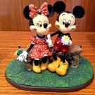 Disney Parks Puppy Love Mickey Minnie Mouse Figure Figurine NEW