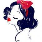 Disney WonderGround Gallery Snow White Postcard By Whitney Pollett NEW