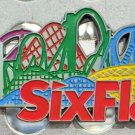 Six Flags Magic Mountain Multi Color Coaster Bottle Opener / Metal Magnet New