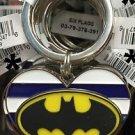 Six Flags Magic Mountain DC Batman Heart Shaped Metal Keyring Keychain New