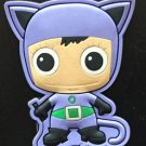 Six Flags Magic Mountain DC Green Lantern Purple Cat Outfit Rubber Magnet New