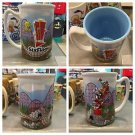 Six Flags Magic Mountain Looney Tunes Tall Embossed Mug w/ Coaster Art New