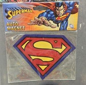Six Flags Magic Mountain DC Justice League Superman Shield Car Auto Magnet New