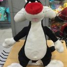 """Six Flags Magic Mountain Looney Tunes Sylvester Cat 10"""" Plush New with Tags"""