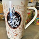 Six Flags Magic Mountain Looney Tunes Multi Character Doodle Ceramic Mug New