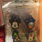 Disney Parks Mickey Donald Duck Goofy Minnie Mouse Magnet Clip Set of 4 NEW