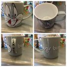 Six Flags Magic Mountain Looney Tunes Bugs Bunny Gray Ceramic Mug Cup New
