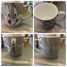Six Flags Magic Mountain Looney Tunes Bugs Bunny Gray Ceramic Mug Cup New