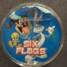 Six Flags Magic Mountain Looney Tunes Bugs Bunny Globe Magnet New