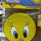 Six Flags Magic Mountain Looney Tunes Tweety Bird Face Round Large Magnet New