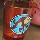 "Six Flags Magic Mountain Looney Tunes Wile E Coyote ""Derp!"" Shot Glass New"
