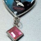 Six Flags Magic Mountain Catwoman Heart Shape Keyring Metal Keychain New