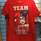 Six Flags Magic Mountain Team Harley Quinn Red T-Shirt SIZE S,M,L XL,XXL New