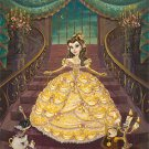 Disney Parks Princess Belle Lumiere Cogsworth Deluxe Print by John Coulter New