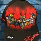 Six Flags Magic Mountain DC Comics Vile & Villains Snapback Hat Cap New