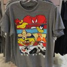 Six Flags Magic Mountain Looney Tunes Puzzle Character Gray Shirt New