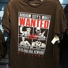 Six Flags Magic Mountain Arkham City's Most Wanted Men's T-Shirt Joker Bane New
