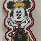 Disney Parks Minnie Mouse Red Leather Keyring Keychain New